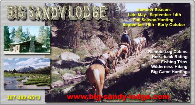 Join us at Big Sandy Lodge, high in the southern Wind River Mountains!
