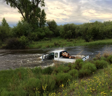 Wrong turn. Photo courtesy Sublette County Sheriff's Office.