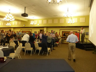 <b>Standing Ovation</b> Coach Bill Lehr received a standing ovation as part of being inducted into the 2018 Big Piney Hall of Fame Induction  and Ceremony. Photo by Pinedale Online!