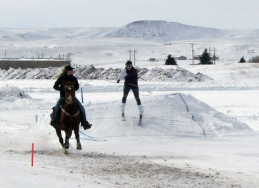 Skijoring. Photo by Dawn Ballou, Pinedale Online!