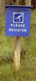 Registration boxes are located at ski trail heads