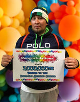 PAC patron Gabriel Becerril is the Pinedale Aquatic Center's One Millionth Visitor