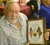 Daniel resident Ben Pearson was one of several Veterans recently honored by the American Legion for years of service to our country. Photo courtesy American Legion Phillips-Edwards Post 47.